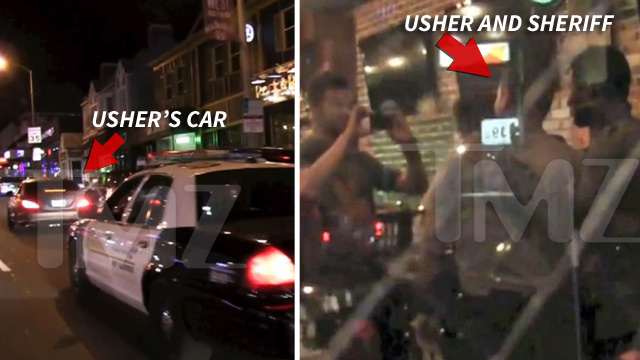 Usher -- Cop Chase Ends with Photo Op -- But NO TICKET  [VIDEO]