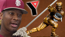 Jameis Winston -- MOPPED LIKE A CHAMP ... During Community Service at YMCA