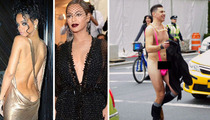 Rihanna -- Met Gala Cleavage Upstaged by Fashionable Balls