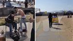 Justin Bieber -- Biking Around Venice Beach ... With Hot Chick