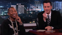 "Pharrell Williams and Jimmy Kimmel Face Off in ""Twofie"" Competition"