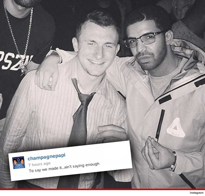 Johnny Manziel and Drake Party