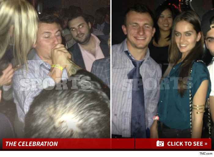 Johnny Manziel Partying After NFL Draft