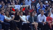 Justin Bieber -- Mother's Day with the Clippers ... We're Sittin' Courtside!
