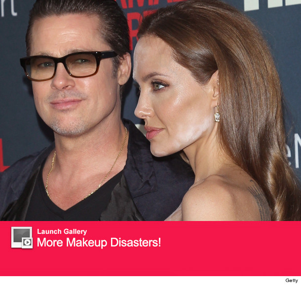Angelina Jolie Makeup Malfunction