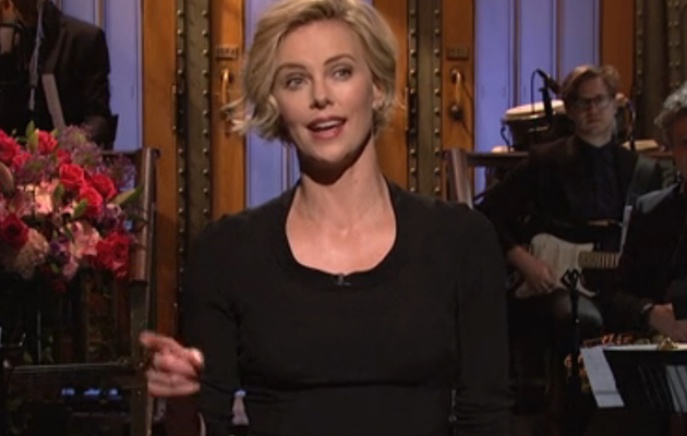 "Charlize Theron Shows Off Her Singing Skills on ""SNL"" -- See The Video!"