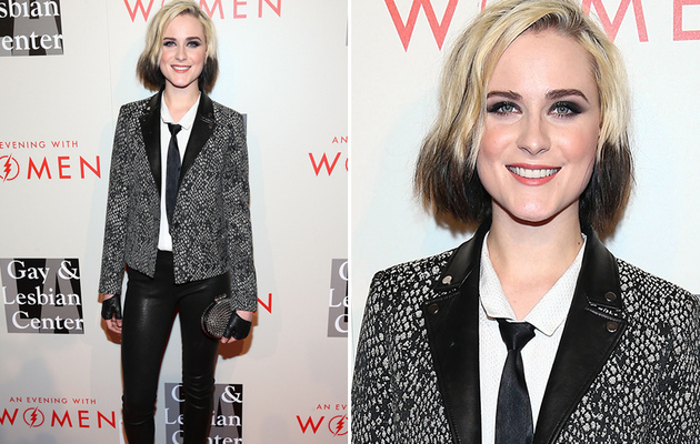Evan Rachel Wood Debuts Dip-Dyed 'Do At Gay & Lesbian Event