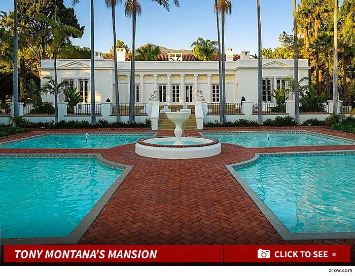 cause the mansion where Tony Montana died in a bloody blaze of glory just  hit the real estate market     but you re gonna. Scarface  Mansion For Sale    Say Hello To My Little  35M Friend