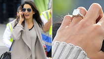 George Clooney's Fiancee Amal Alamuddin Flashes Giant Engagement Ring
