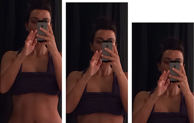 Kim Kardashian Hits The Gym, Flaunts Abs Before Alleged Wedding