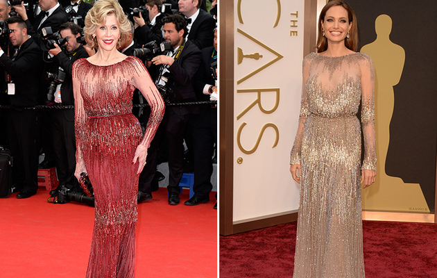 Dueling Dress: Who Wore It Better Jane Fonda or Angelina Jolie?