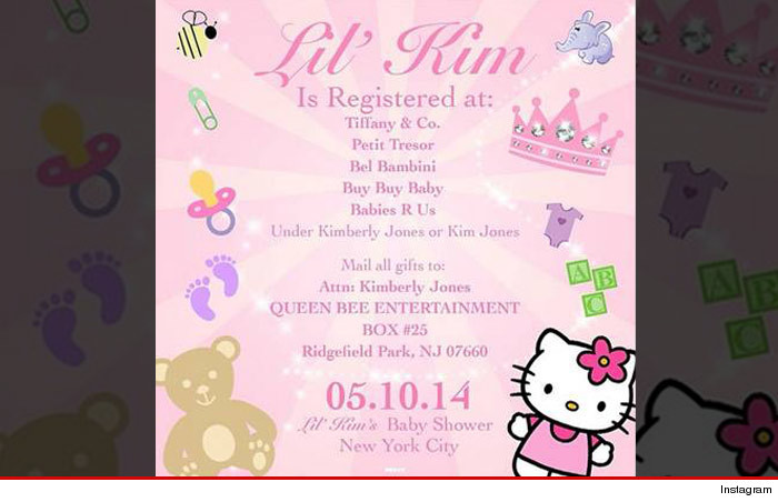 Lil Kim Baby Shower Invitation