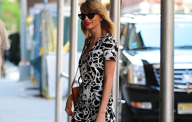 Taylor Swift Shows Off Long Legs in Floral Romper -- Steal Her Style!