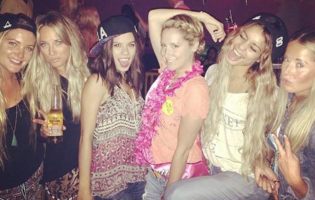 Ashley Tisdale Celebrates Bachelorette Party with Vanessa Hudgens