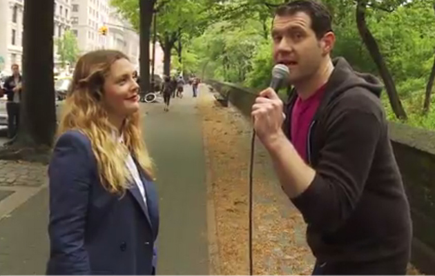 "Drew Barrymore Quizzed About Herself with ""Billy on the Street"""