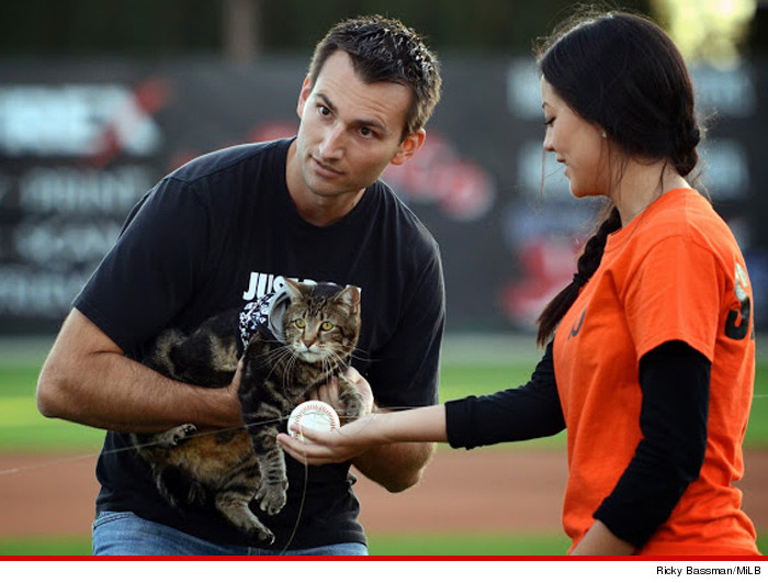 Hero Cat Throws Out First Pitch