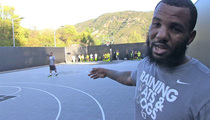 The Game -- Builds Private BBall Court ... For Kids Hoops League