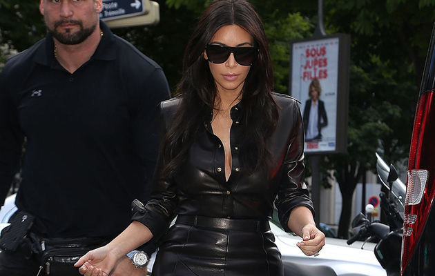 Kim Kardashian Rocks Skin-Tight Leather Dress Days Before Wedding!