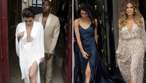 Kim Kardashian, Kanye West & Family Attend Rehearsal Dinner in Paris!