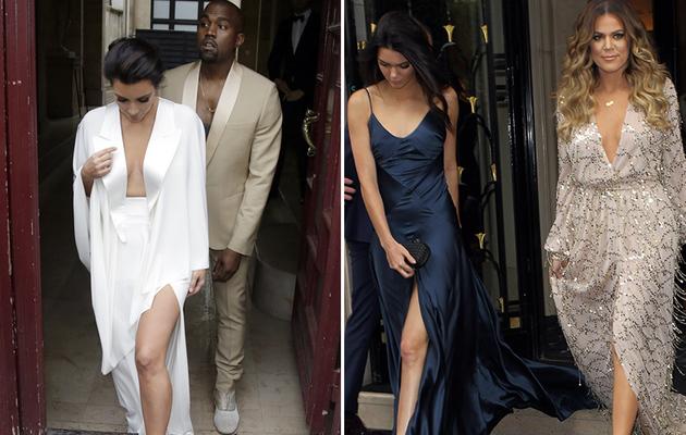 Kim Kardashian, Kanye West & Family Attend Rehearsal Dinner in Paris!