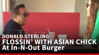 Donald Sterling At In-N-Out Burger With Asian Chick -- FLOSSIN'
