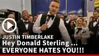 Justin Timberlake's Billboard Awards Speech -- Hey Donald Sterling: EVERYONE HATES YOU!!!