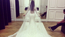 Kim Kardashian Flaunts Famous Booty In New Wedding Dress Photo