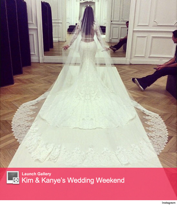 Kim Kardashian Butt Wedding Dress