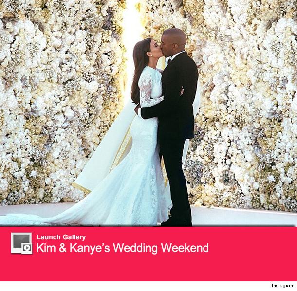 Kim Kardashian and Kanye West Wedding Photos
