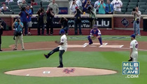 50 Cent's First Pitch at Mets/Pirates Game -- THE MASSACRE [VIDEO]