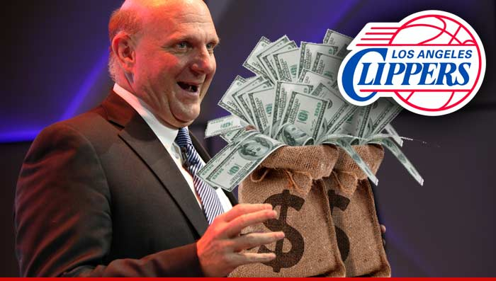 Steve Ballmer Buys Clippers Cash