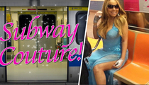Mariah Carey Riding the Subway ... in an Evening Gown