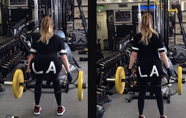 Khloe Kardashian Flaunts Killer Curves in Gym Selfie