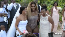 Serena Williams -- Leopard Swimsuit-Wearing Wedding Crasher
