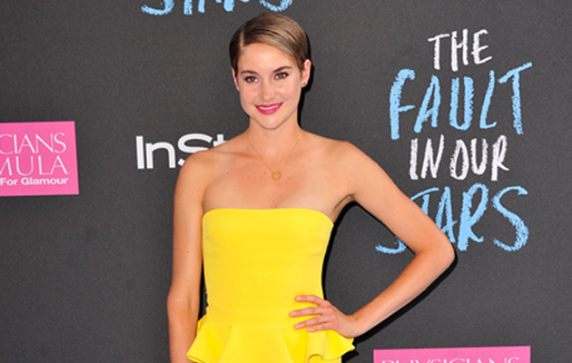 "Shailene Woodley Dazzles in Yellow at ""Fault in Our Stars"" Premiere"