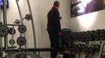 Barack Obama -- Secretly Filmed Working Out in Polish Gym