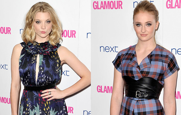 """Game of Thrones'"" Natalie Dormer & Sophie Turner Stun at Glamour Women of the Year…"