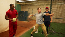 Johnny Manziel -- Prepping To Throw 1st Pitch ... I Don't Wanna Pull a '50 Cent'