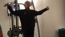 Barack Obama Working Out -- President Secretly Filmed at Polish Gym [VIDEO]