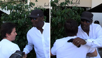 Michael Jordan & Mark Wahlberg Have Lunch Together ... But WHO PAYS???
