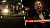 Calvin Harris -- His SUV Runneth Over with Hot Chicks