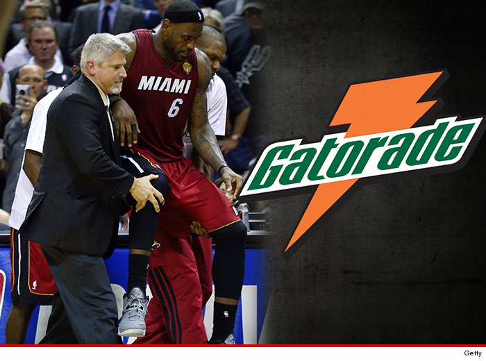 Gatorade Disses LeBron James Leg Cramp