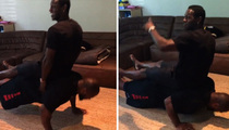 James Harrison -- GIDDY UP!!! ... Push-Ups with Another NFL Star On His Back!
