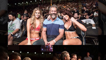 Mel Gibson Hangs with Ring Girls at UFC
