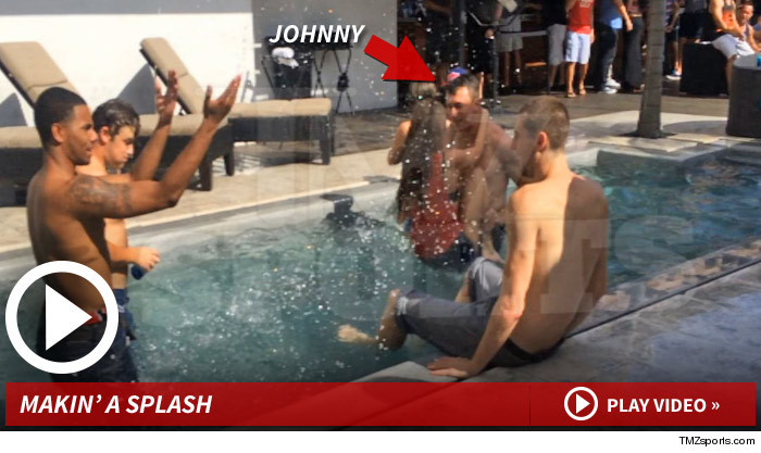 Johnny Manziel Pool Party