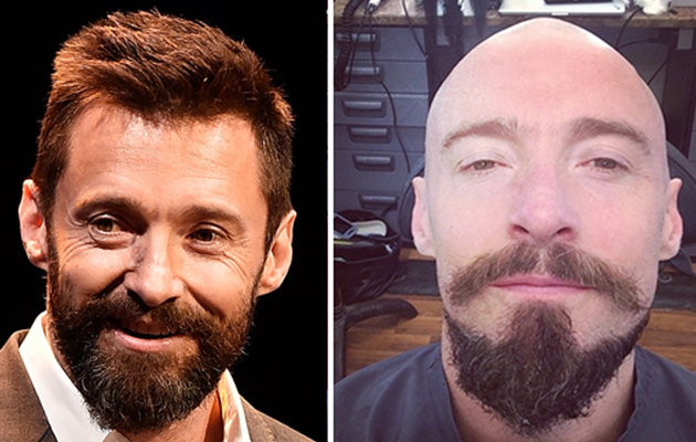 "Hugh Jackman Shaves His Head for ""Pan"" -- See His Bald 'Do!"