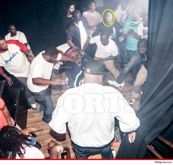 Marshawn Lynch Club Fight Pics