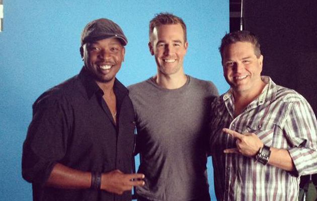 "James Van Der Beek Has a Mini ""Varsity Blues"" Reunion -- See the Boys Now!"