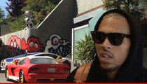 Chris Brown -- Dumps Graffiti Home & Condo