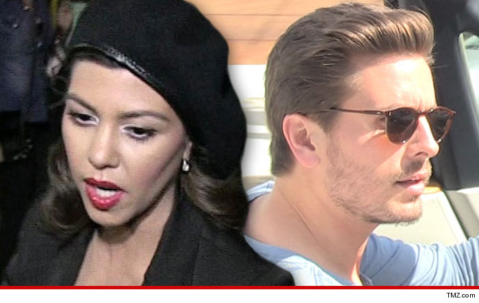 Kourtney Kardashian Kicks Scott Disick Out